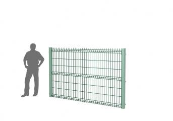 Панель оцинк. DVM3D ECO 1530х2500, пруток 3.0мм, яч.50х200, 3 гиба, ППRAL