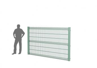 Панель оцинк. DVM3D ECO 1730х2500, пруток 3.0мм, яч.50х200, 3 гиба, ППRAL