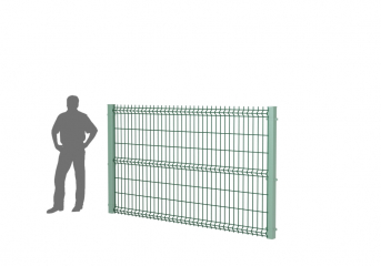 Панель оцинк. DVM3D ECONOM 1530х2500, пруток 4.0/3.0мм, яч.50х200, 3 гиба, ППRAL
