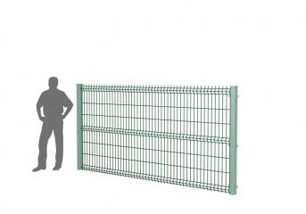 Панель оцинк. DVM3D STANDART 1530х3000, пруток 4.0мм, яч.50х200, 3 гиба, ППRAL