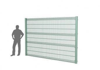 Панель оцинк. DVM3D STANDART 2030х3000, пруток 4.0мм, яч.50х200, 4 гиба, ППRAL