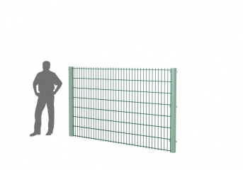 Панель оцинк. DVM2D PROM 1530х2500, пруток 8.0/6.0мм, яч.50х200, ППRAL