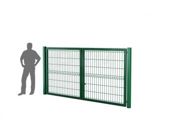 Ворота распашные оцинкованные DVM ECONOM 1500х3000, ППRAL