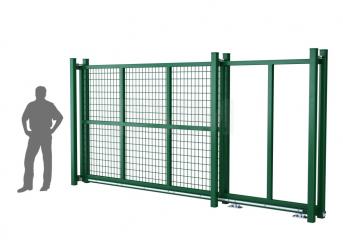 Ворота откатные оцинкованные DVM PRO 2000х3000, ППRAL